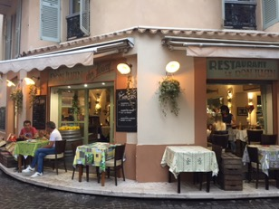 Quaint restaurants.