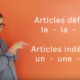 article definis indefinis